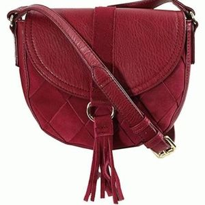 INC International Concepts Ella Saddle Bag Wine